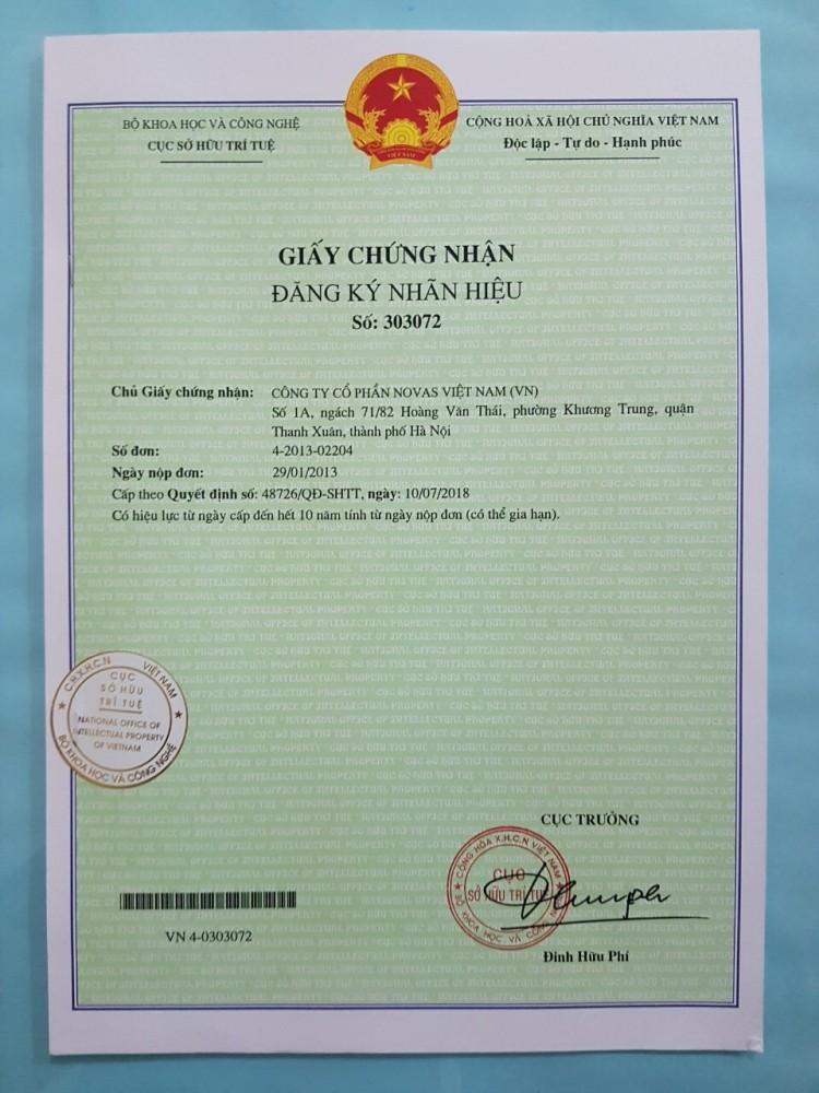 GCN Đăng ký nhãn hiệu